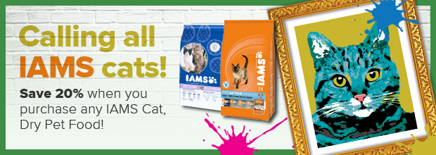 Save 20% On IAMS dry cat food