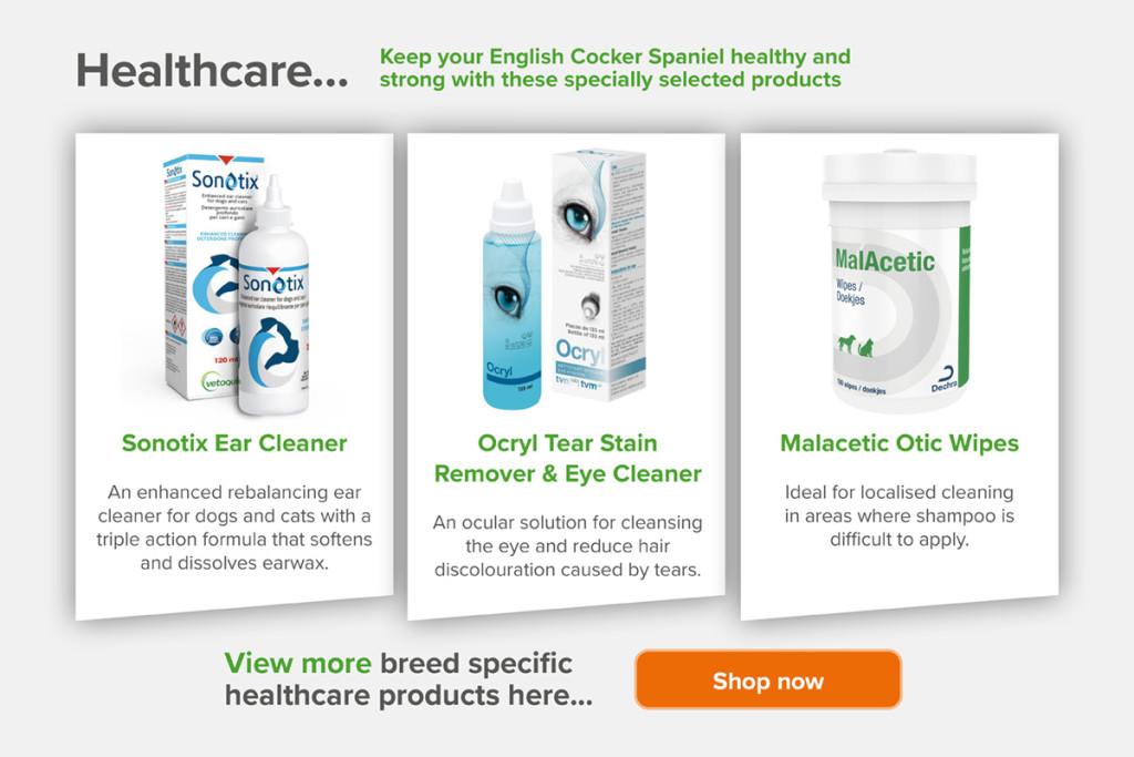 English Cocker Spaniel health products