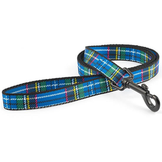 Ancol Nylon Blue Tartan Lead (19mm) 1m on Animed Direct