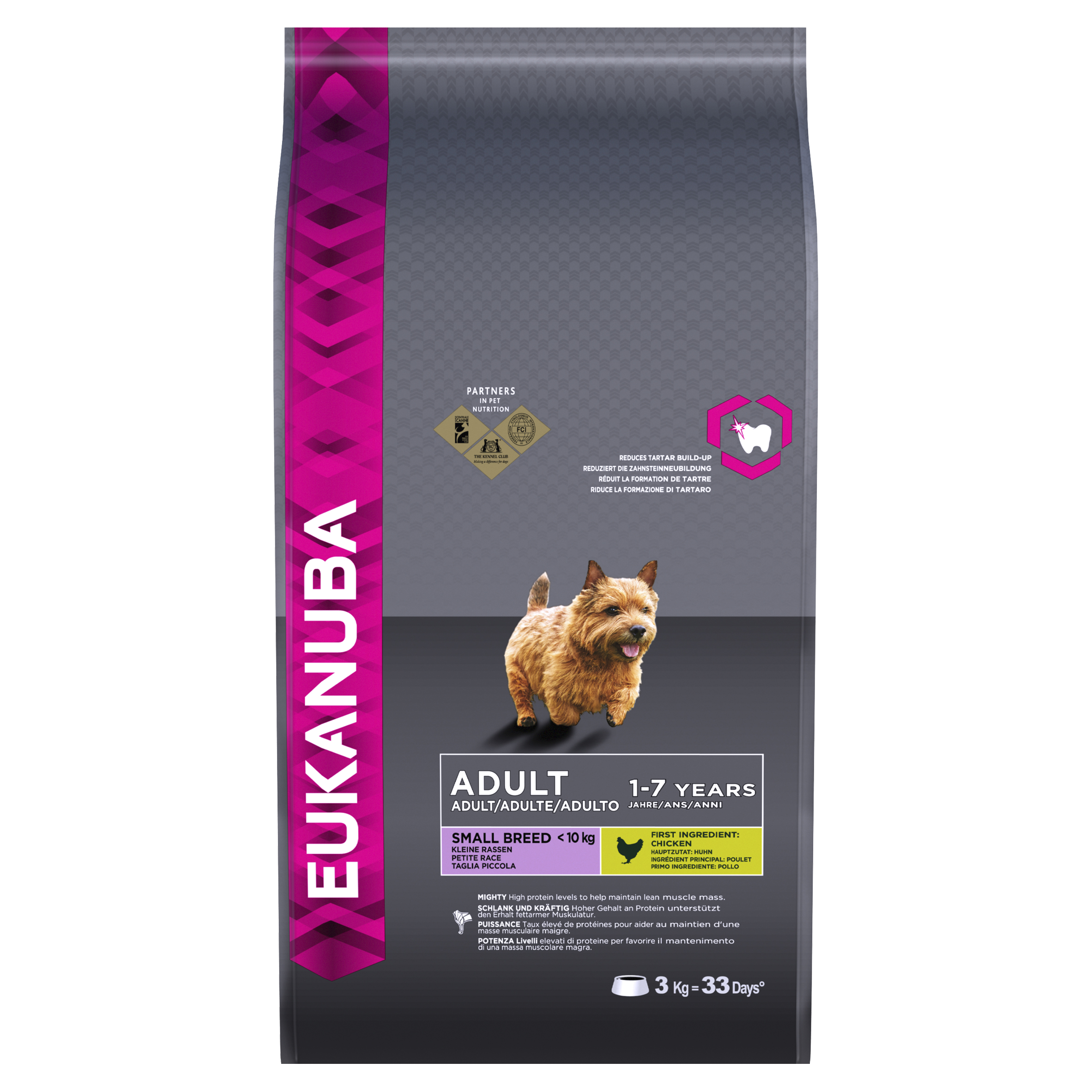 Eukanuba Adult Small Breed Dog with Chicken Dry 3kg on Animed Direct