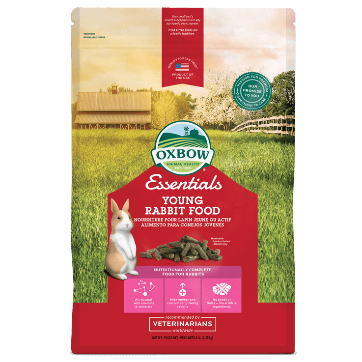 Oxbow Essentials Young Rabbit Food 2.2kg on Animed Direct