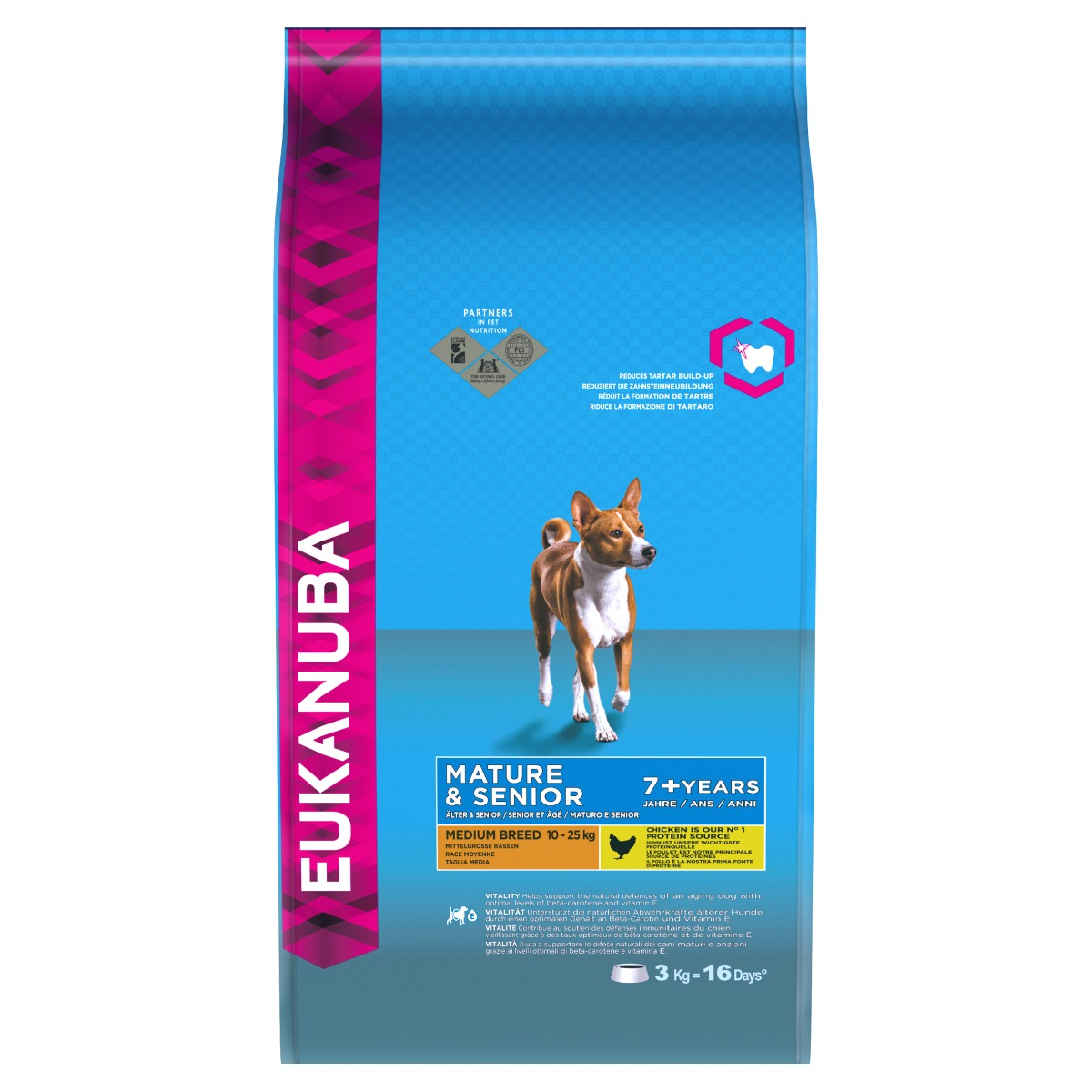 Eukanuba Mature/Senior Medium Breed Dog with Chicken Dry 3kg on Animed Direct