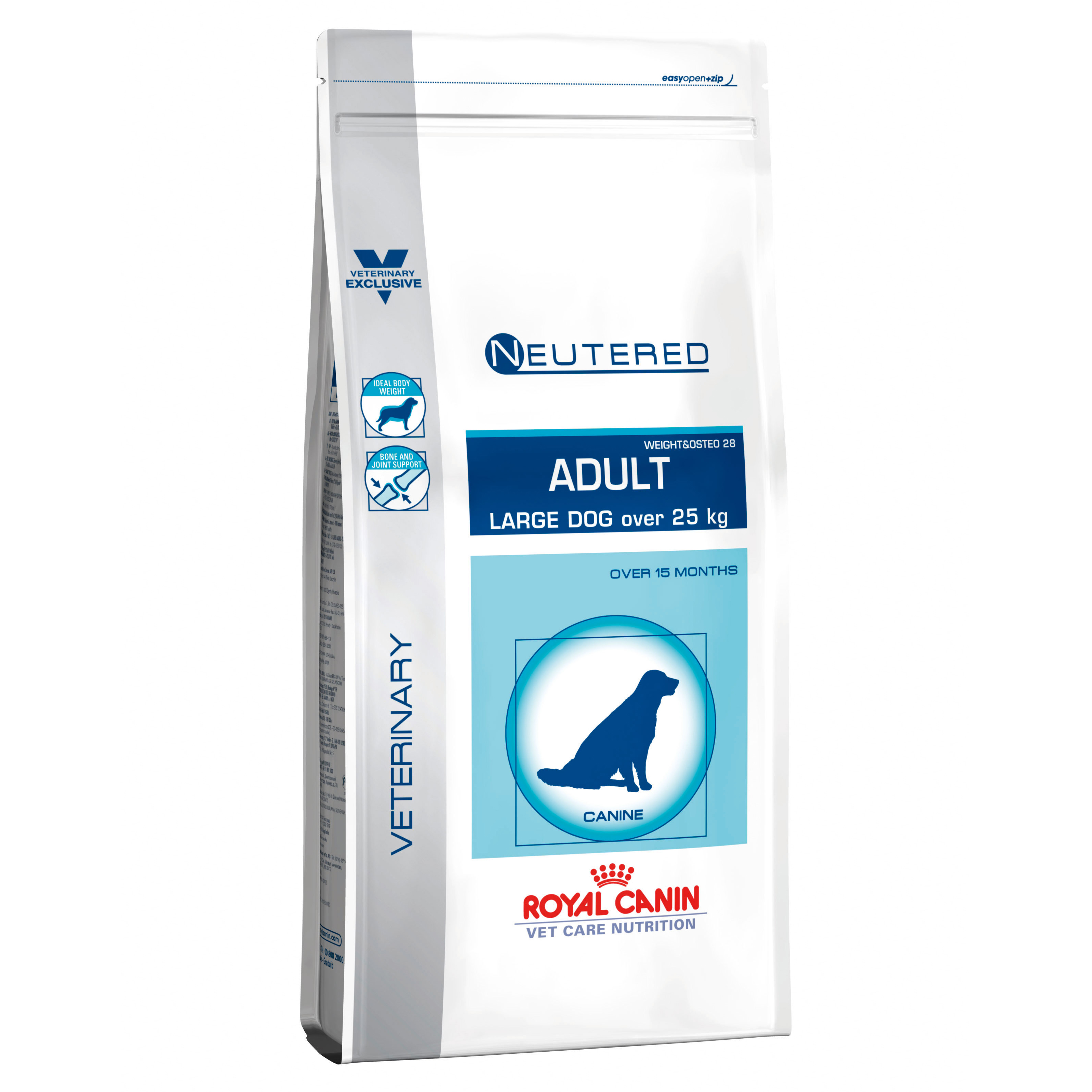Royal Canin Vet Care Nutrition Neutered Adult Large Dog (Weight & Osteo 28) Dry 3.5kg on Animed Direct