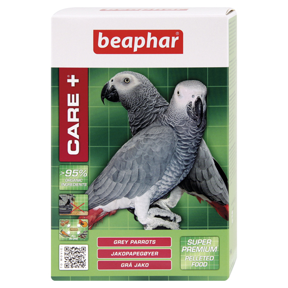 Beaphar Care+ Grey Parrot Feed 1kg on Animed Direct