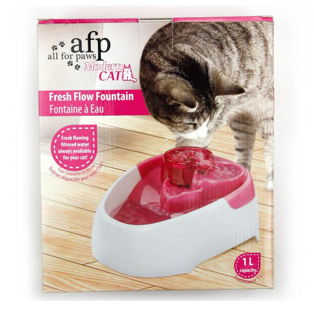 All For Paws Modern Cat Fresh Flow Fountain on Animed Direct