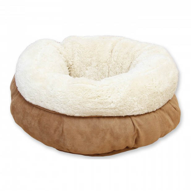 All For Paws Donut Cat Bed - Tan on Animed Direct