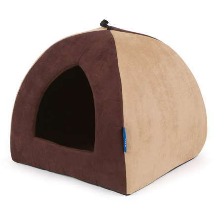 Ancol Timberwolf Faux Suede Pyramid Pet Bed on Animed Direct
