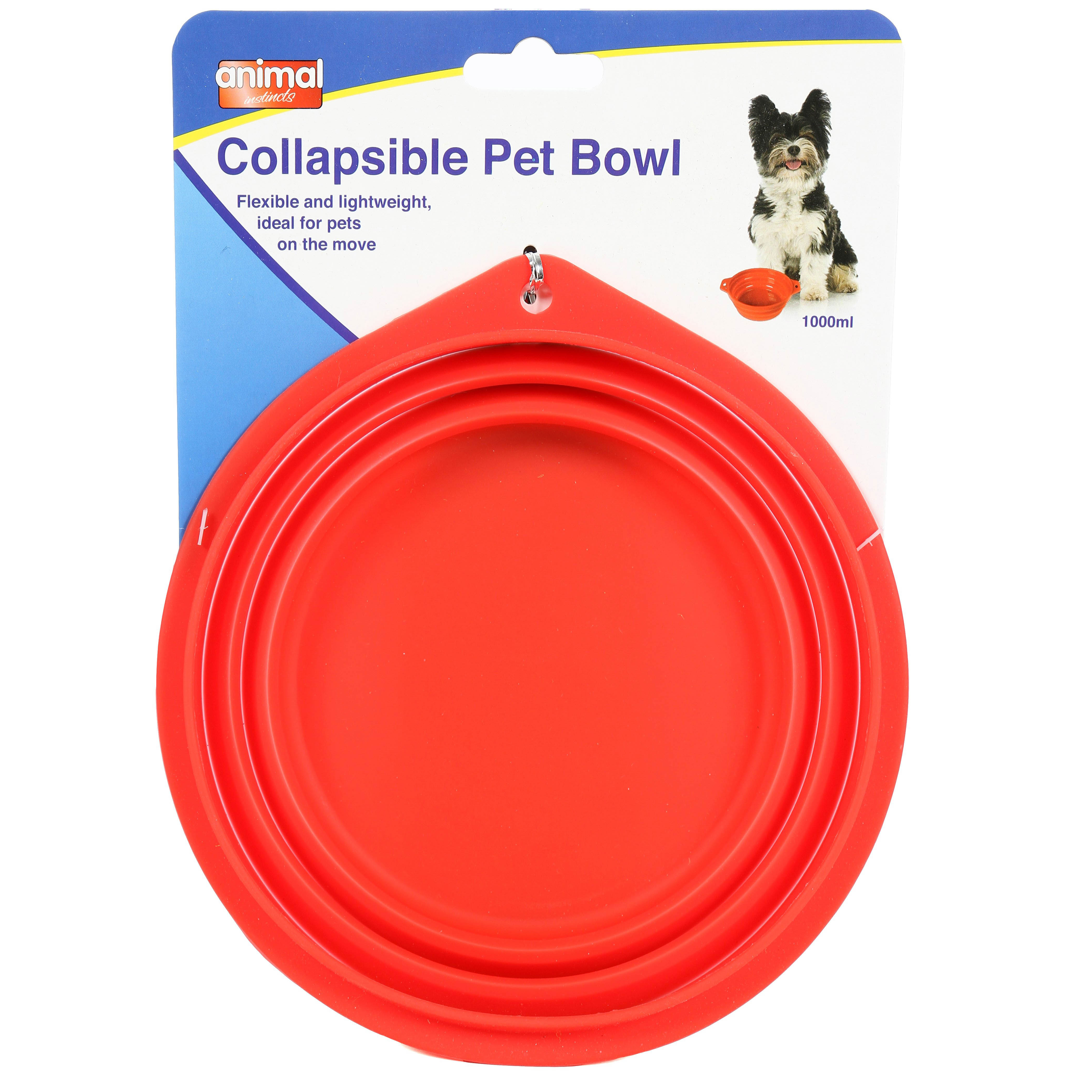 Animal Instincts Travel Collapsible Bowl 1L on Animed Direct