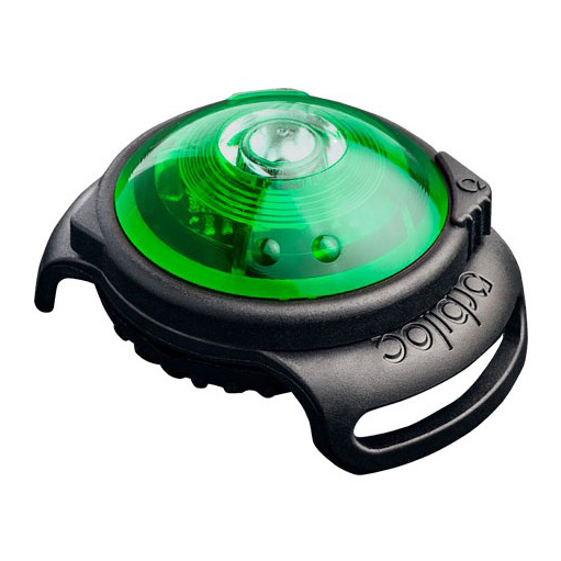 Orbiloc Dog Dual Safety Light - Green on Animed Direct