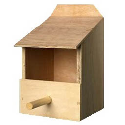 The Hutch Company Wooden Finch Nest Box on Animed Direct