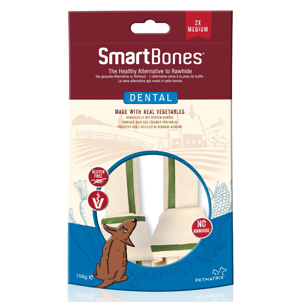 SmartBones Dental Medium Bones - Pack of 2 on Animed Direct