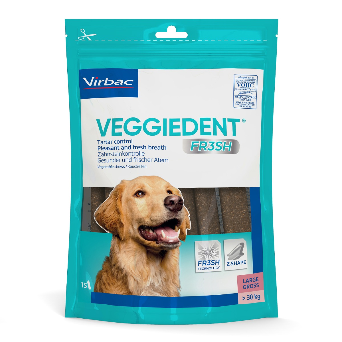 Veggie Dent Chews - Pack of 15 - Large on Animed Direct