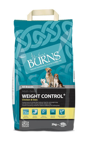 Burns Weight Control+ Adult Dog with Chicken & Oats Dry 2kg on Animed Direct