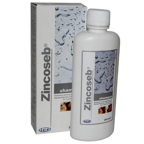 Zincoseb Shampoo for Dogs 250ml on Animed Direct