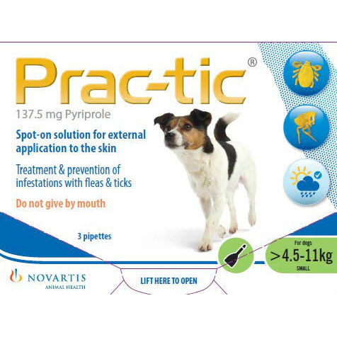 Prac-tic Spot On Small Dog - Pack of 3 on Animed Direct