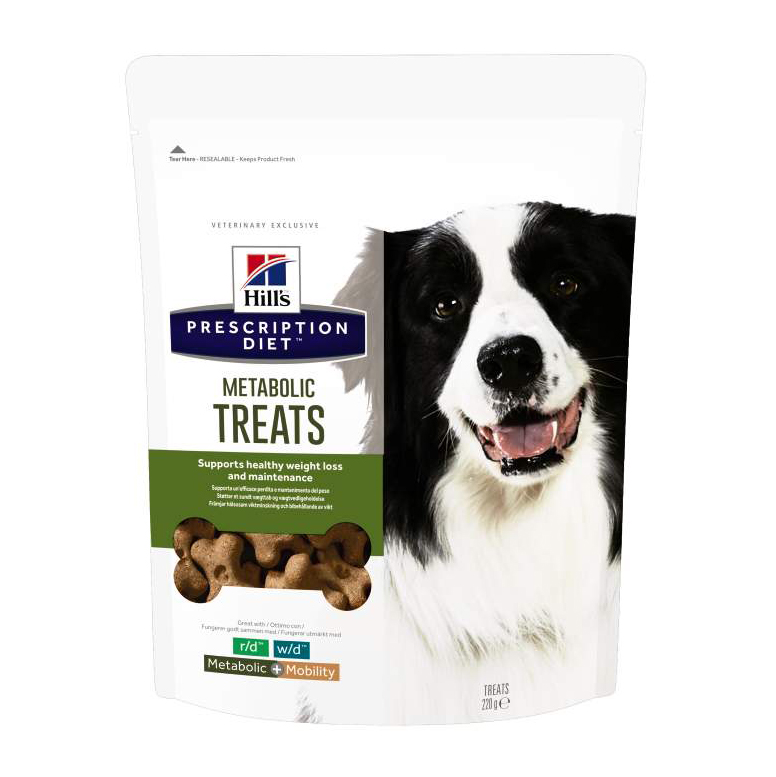 Hills Prescription Diet Metabolic Dog Treats 220g on Animed Direct