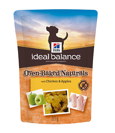 Hills Ideal Balance Oven-Baked Naturals Dog Treats with Chicken & Apples 6x227g on Animed Direct