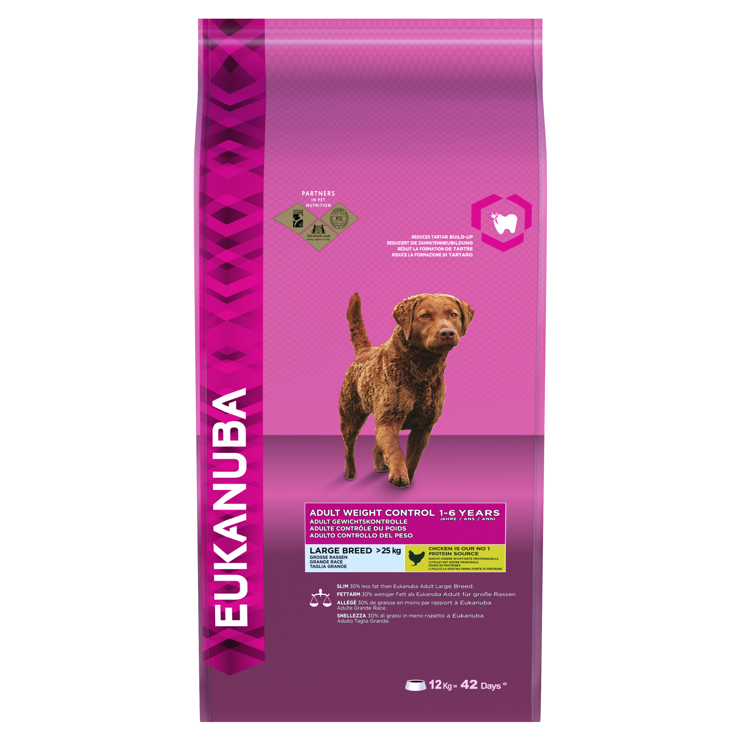 Eukanuba Adult Weight Control Large Breed Dog with Chicken Dry 12kg on Animed Direct