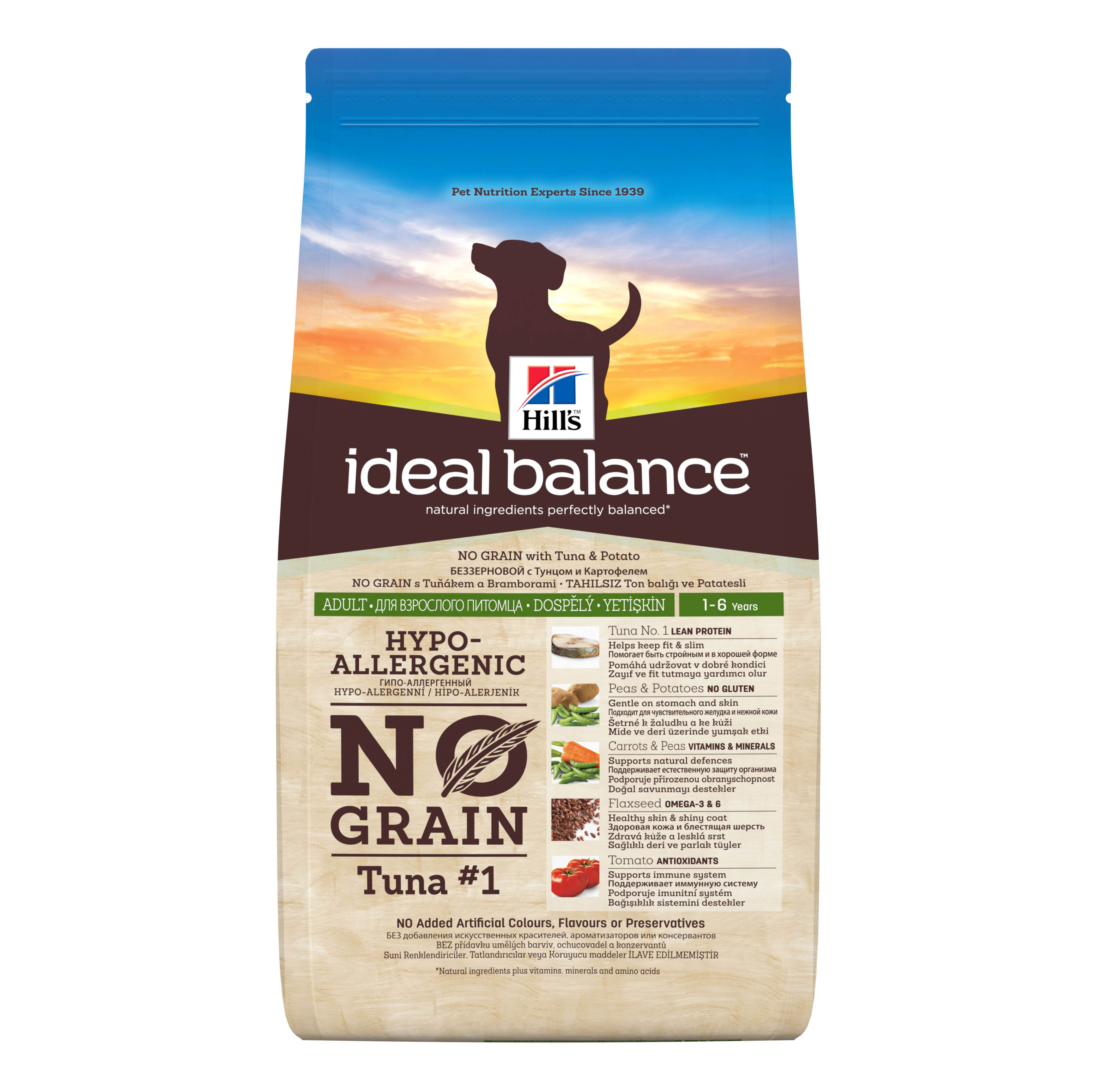 Hills Ideal Balance No Grain Adult Dog with Tuna & Potato 2kg on Animed Direct