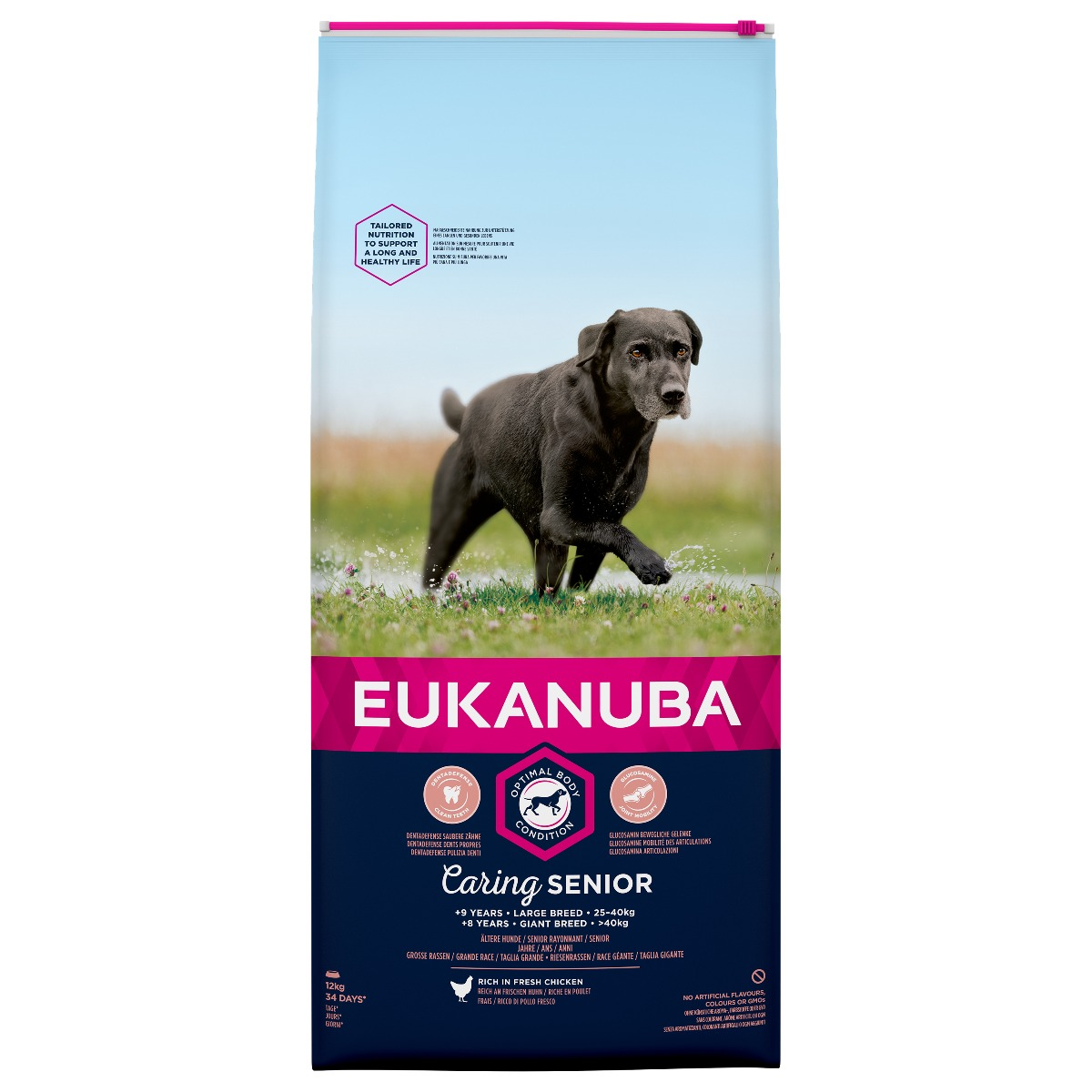 Eukanuba Caring Senior Large Breed Rich in Fresh Chicken Dry 12kg on Animed Direct