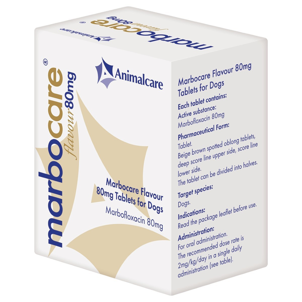 Marbocare 80mg Flavoured Tablet for Dogs on Animed Direct