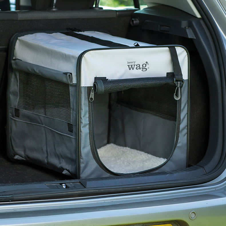 Henry Wag Folding Fabric Travel Crate Extra Large-93x63x67cm on Animed Direct