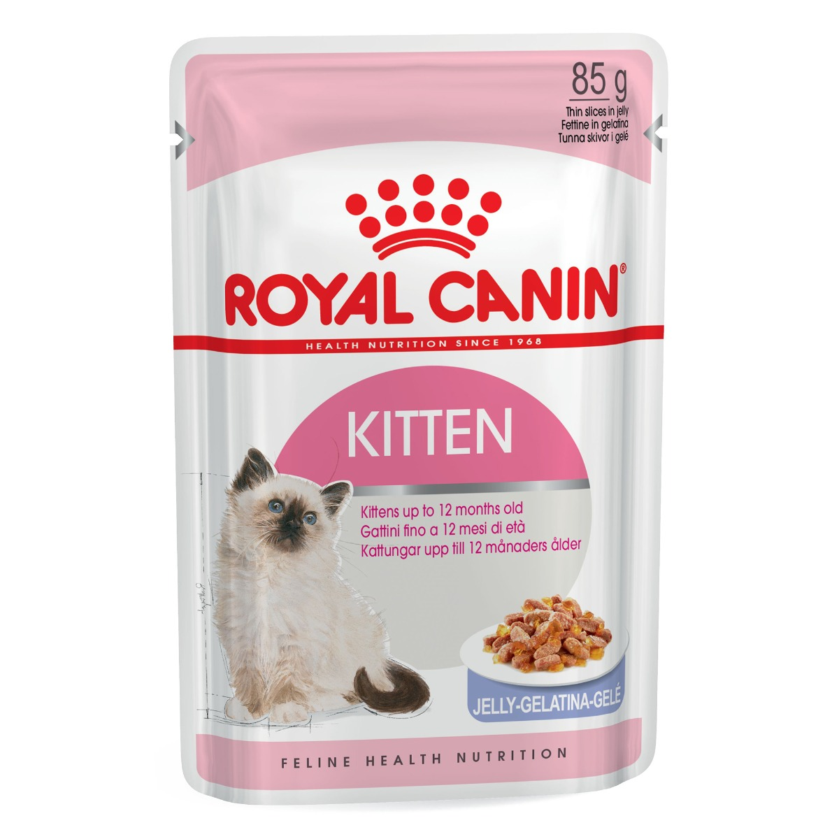 Royal Canin Feline Health Nutrition Kitten (in Jelly) Wet Pouches 12x85g on Animed Direct