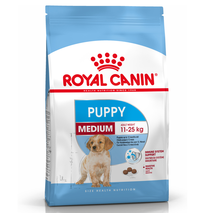 Royal Canin Size Health Nutrition Medium Puppy Food Dry 10kg on Animed Direct