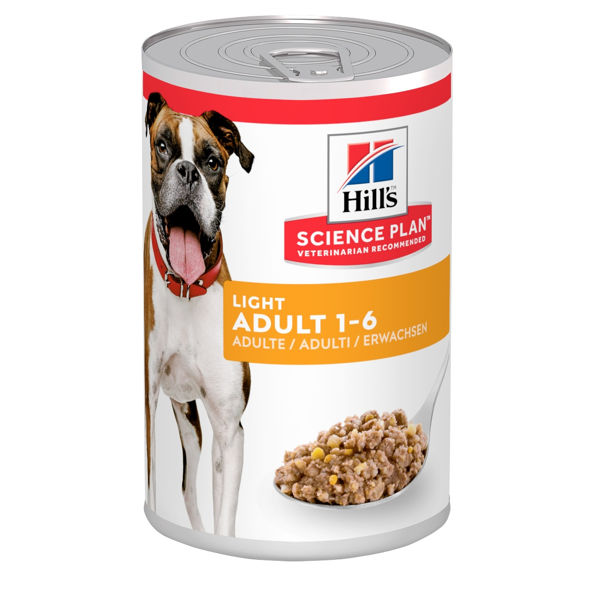 Hill's Science Plan Adult Light Wet Dog Food Chicken Chicken Flavour 12x370g Can on Animed Direct