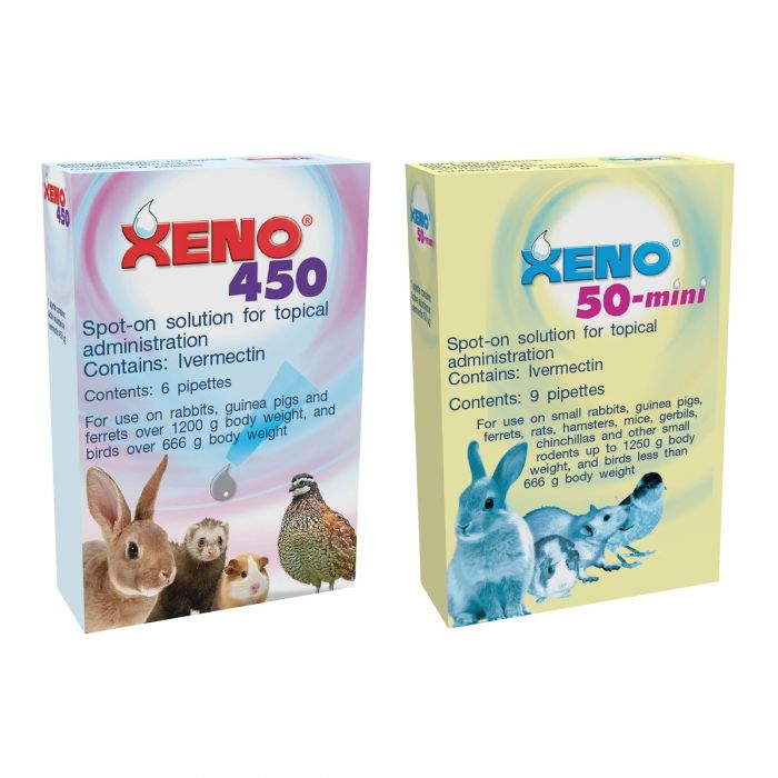 Xeno 450 ivermectin spot-on (6 pipettes) from £16. 90.