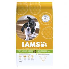 IAMS ProActive Health Puppy/Junior Small & Medium Breed with Chicken Dry 3kg