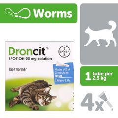 Droncit Spot On Cat Wormer 4 Pack