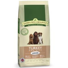 James Wellbeloved Junior Dog with Turkey & Rice Dry