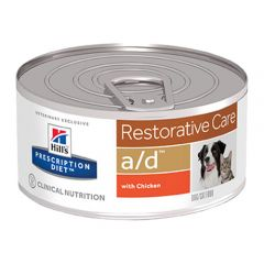 Hills Prescription Diet A/D Restorative Care Canine/Feline Wet 24x156g Cans