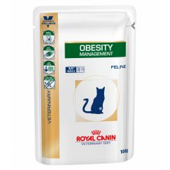 Royal Canin Veterinary Diet Feline Obesity Management Wet 48x100g Pouch