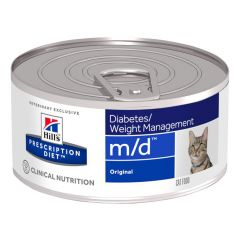 Hills Prescription Diet M/D Diabetes/Weight Management Feline Wet 24x156g Can
