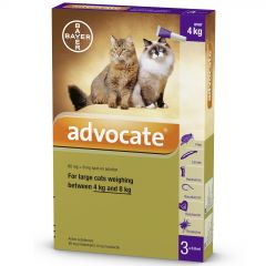 Advocate 80 for Large Cats 4 - 8kg
