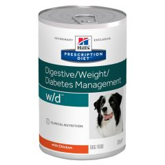 Hills Prescription Diet W/D Digestive/Weight/Diabetes Management Canine Wet 12x370g Can
