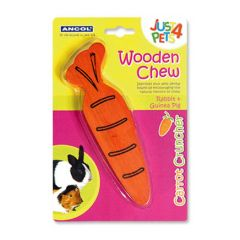 Ancol Just4Pets Wooden Carrot Cruncher