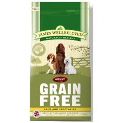James Wellbeloved Grain Free Adult Dog with Lamb & Vegetable Dry