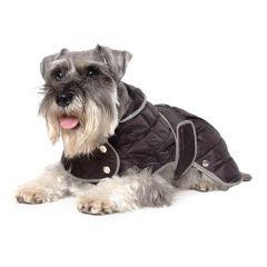 Ancol Diamond Quilt Dog Coat Black Large