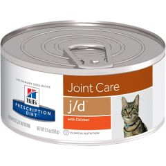 Hills Prescription Diet J/D Joint Care Feline with Chicken Wet 24x156g Can