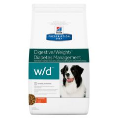 Hills Prescription Diet W/D Digestive/Weight/Diabetes Management Canine with Chicken Dry