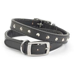 Ancol Studded Leather Dog Collar