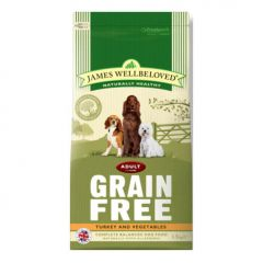 James Wellbeloved Grain Free Adult Dog with Turkey & Vegetable Dry