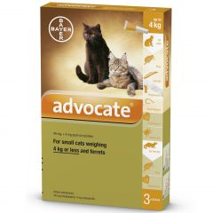 Advocate 40 for Small Cats up to 4kg and Ferrets