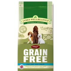 James Wellbeloved Grain Free Adult Dog with Fish & Vegetable Dry