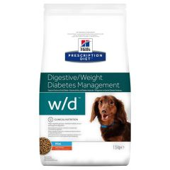 Hills Prescription Diet W/D Digestive/Weight/Diabetes Management Mini Canine with Chicken Dry