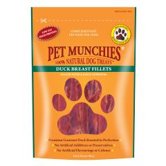 Pet Munchies Duck Breast Fillet Dog Treats 80g