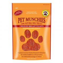Pet Munchies Chicken Breast Fillet Dog Treats 100g